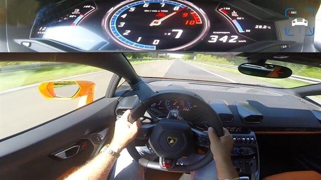 Lamborghini Huracan ile 342 km hız yapan adam