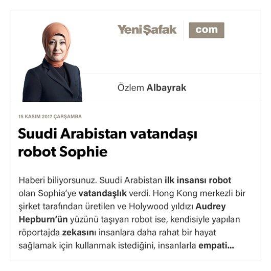 Suudi Arabistan vatandaşı robot Sophie