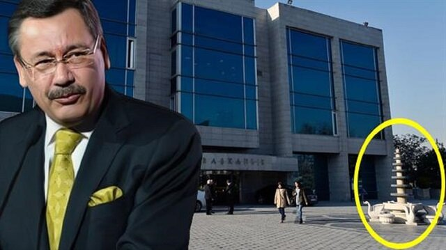 Ankara Büyükşehir Belediyesi önündeki fıskiye.