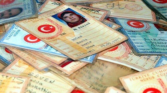 Nüfus cüzdanlarındaki kimlik numaraları belli bir düzene göre veriliyor.