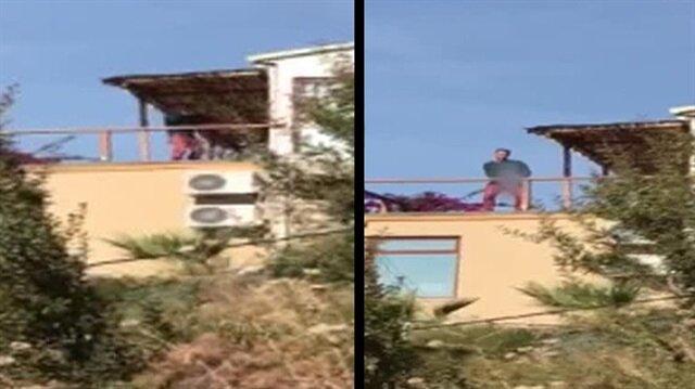 Ünlü çiftin uğradığı silahlı saldırı kamerada