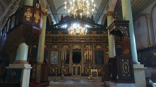 Aya Yorgi Kilisesi'ndeki 3 yıllık restorasyon sona erdi