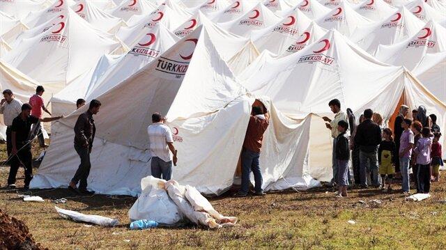 Kızılay, Halepçe'deki kız öğrenci yurdunda 45 çadır kurdu