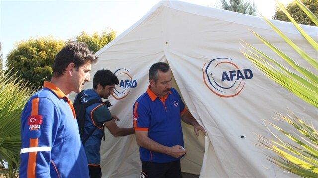 الهلال الأحمر التركي يوزع 255 خيمة على متضرري زلزال العراق