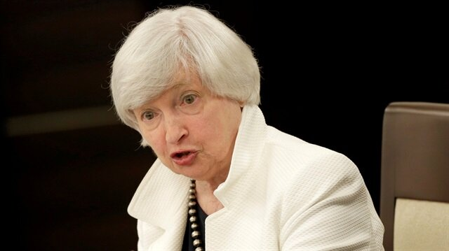 Yellen announces resignation from Fed's board