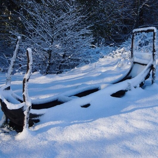 Çanakkale'de kar kalınlığı 15 santimetreyi buldu