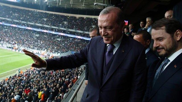 """أردوغان يهنئ """"بيشكطاش"""" على التأهل إلى ثمن نهائي أبطال أوروبا"""