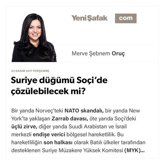 Suriye düğümü Soçi'de çözülebilecek mi?