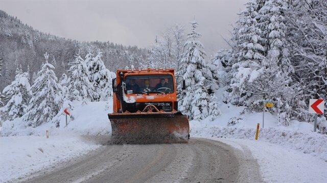 Kastamonu'da ulaşıma kar engeli