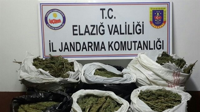 Elazığ'da gerçekleştirilen uyuşturucu operasyonu sonucunda 47 kilogram uyuşturucu ele geçirildi.