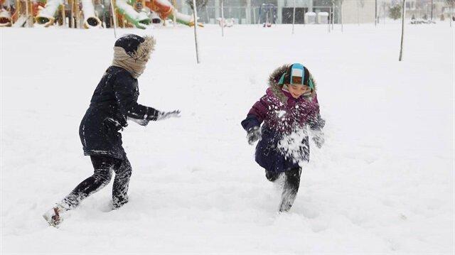 Ardahan'da etkili olan yoğun kar yağışları nedeniyle okullar tatil edildi.
