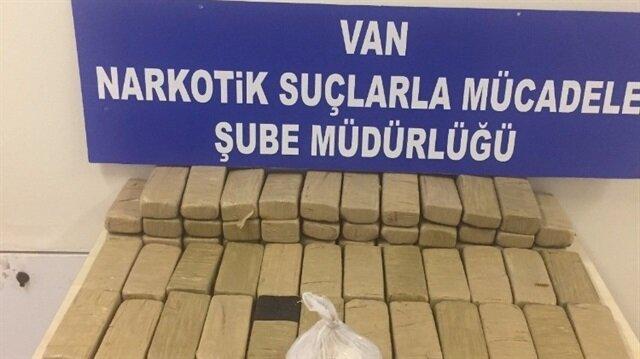 Van'da 34 kilo 387 gram eroin yakalandı.