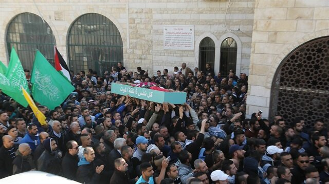 Thousands attend funerals for 4 Palestinian martyrs