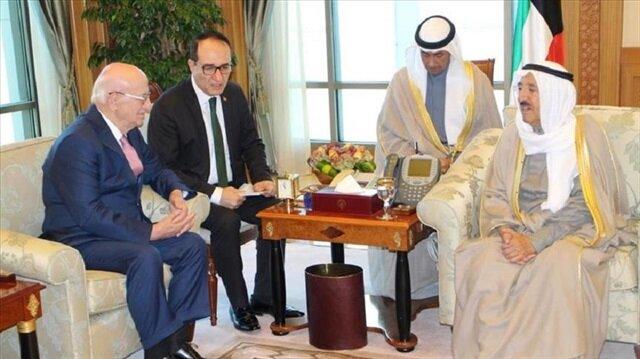 Kuwait emir meets Turkish parliament speaker