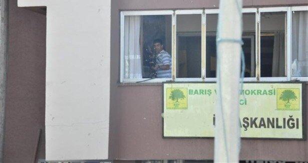 Bodrum'da BDP binasına saldırı