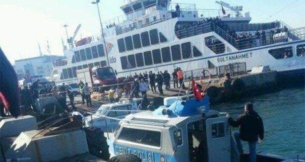 Sirkeci'de denize araç düştü: 1 ölü 3 yaralı