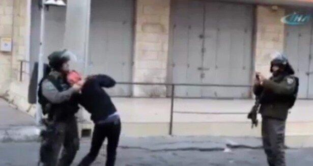 İsrail askerlerinin 13 yaşındaki çocuğa zulmü