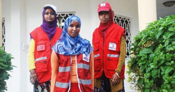 Kızılay''ın Somalili kadın gönüllüleri