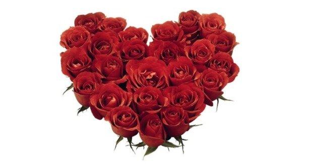 клипарт для photoshop cs3 - цветочное сердце, сердечки из цветов, цветочные композиции.