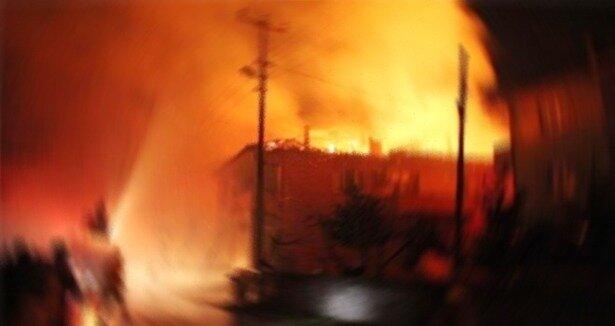 Gaziantep'te büyük yangın