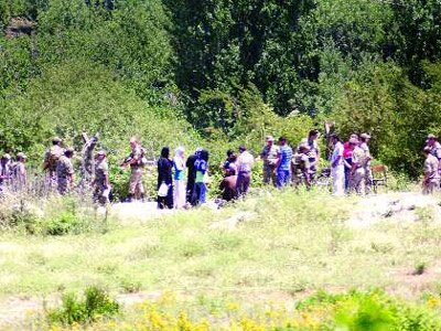 500 asker tampon  bölge için keşifte