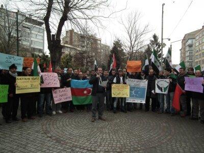 İHH Eskişehir Şubesi Suriye yönetimini protesto et