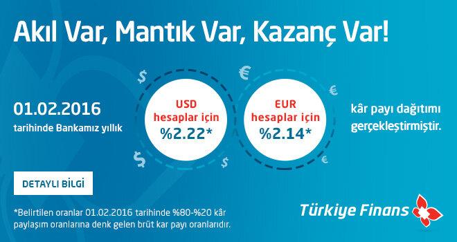 Dövizini Türkiye Finans'ta Değerlendirenler Kazanıyor!
