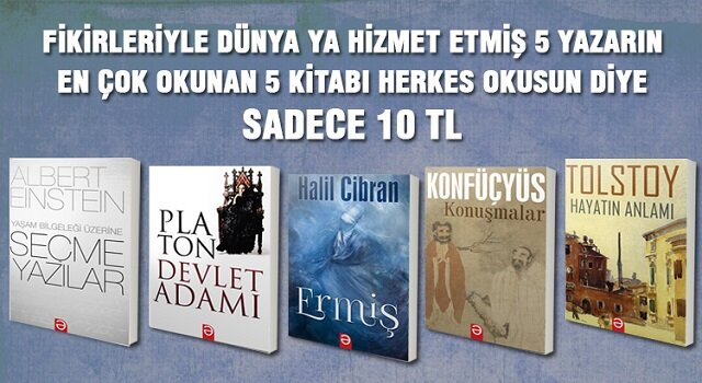 Dünya'nın en iyi kitapları, en iyi fiyatlarla sizlerle