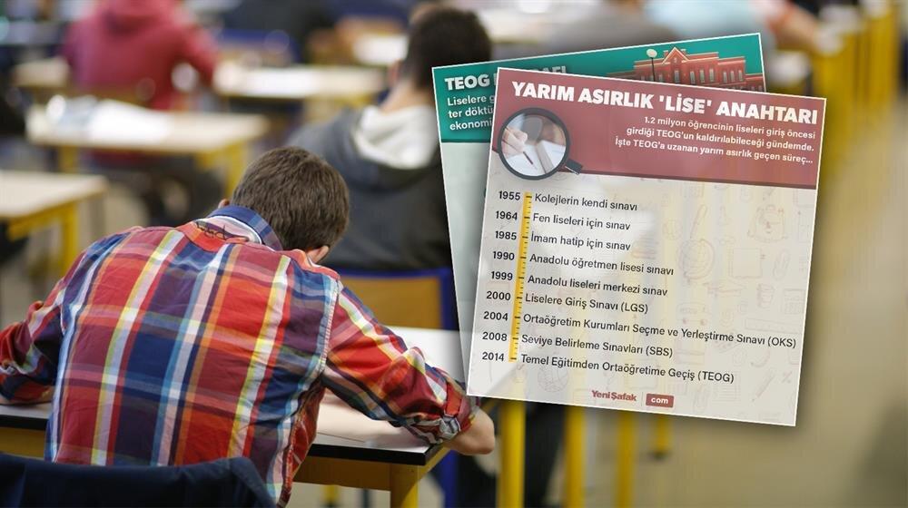 Yaklaşık 1.3 milyon öğrencinin katıldığı TEOG sınavı kaldırıldı.