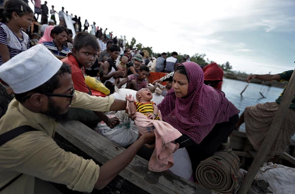 Newly arrived Rohingya refugees