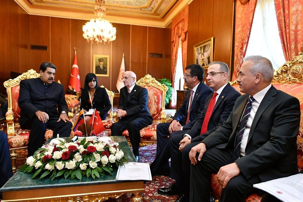 Venezuela's Maduro visits Turkish parliament