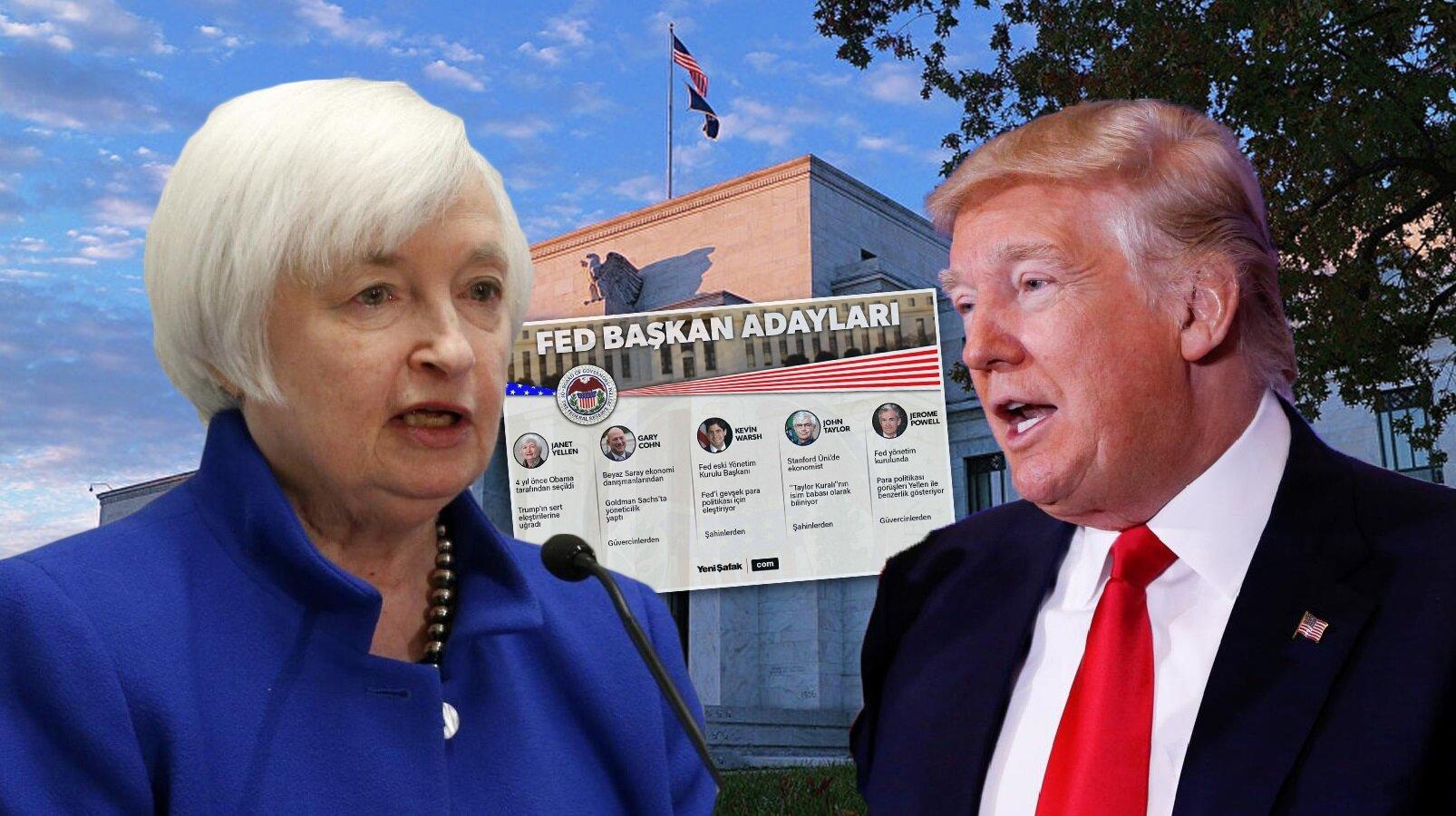 FED başkanlık seçimleri öncesi muhtemel adaylar açıklanırken, Küresel piyasaların gözü Donald Trump'ın vereceği kararda.