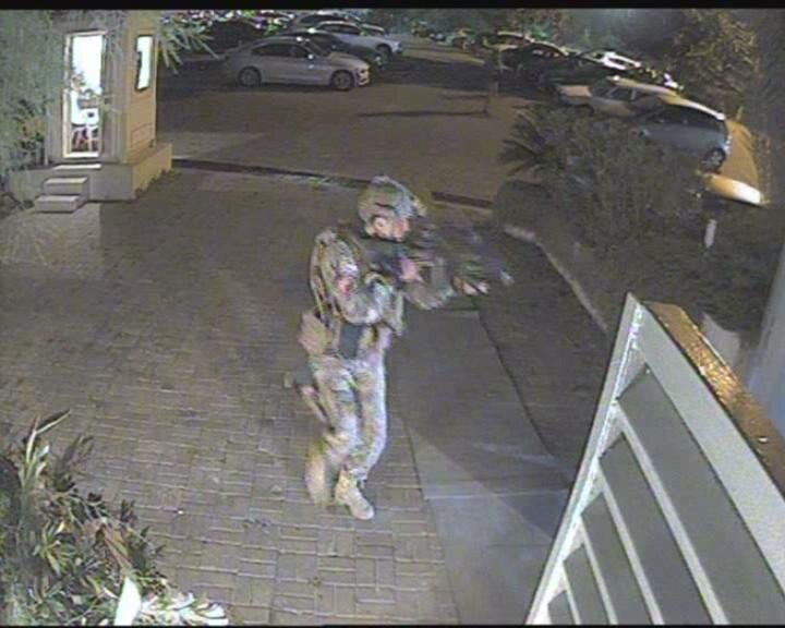 1	The security cameras at the Moda Sea Club recorded the moment coup soldiers entered.