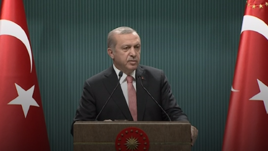 Erdogan's statement on the 'state of emergency'