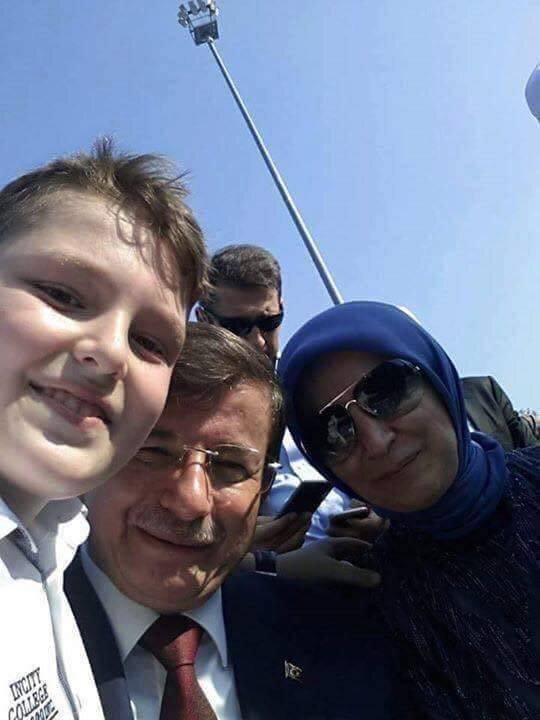Ahmet Davutoğlu and Eşi Sare Davutoğlu