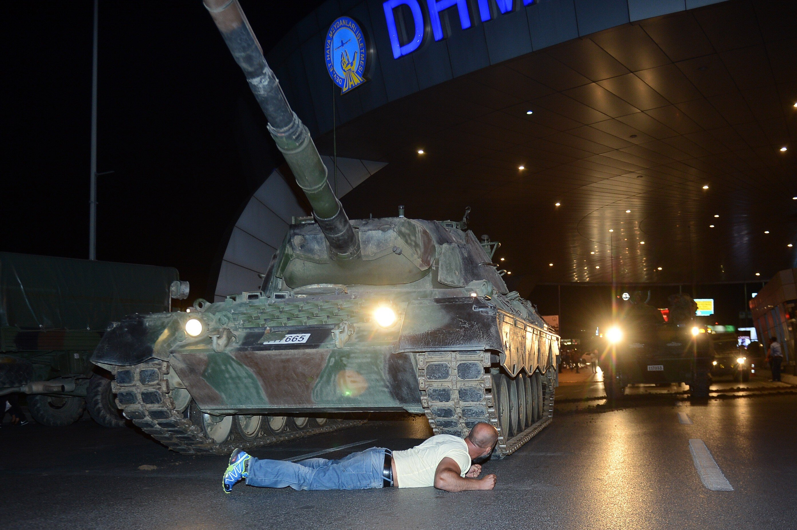 "Metin Doğan, who laid down in front of a tank and became one of the many symbols of that night, said that coup soldiers threatened to shoot him if he did not back down, to which he responded: ""I'm a Turkish soldier. Who are you?"""