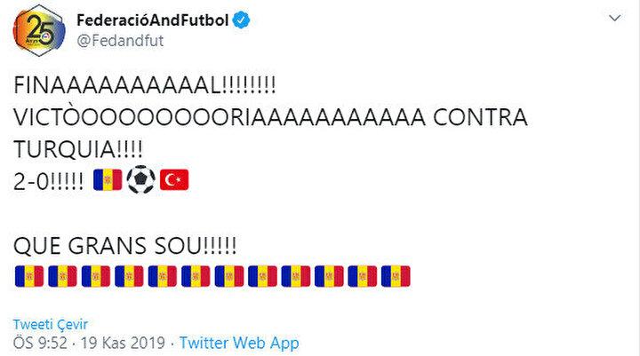 Andorralı futbolcular bu galibiyete çılgınca sevindi. Bunun sebebi ise ev sahibi ekibin 2015ten bu yana ilk galibiyetini almış olması.