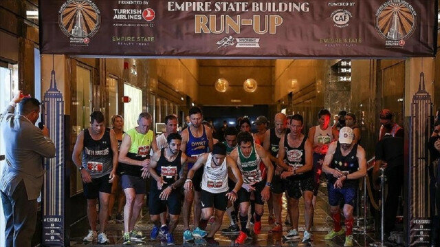 Empire State Building Run-Up held in New York sponsored by Turkish Airlines