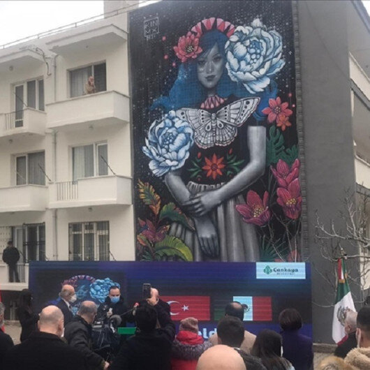 Mexican artist's mural unveiled in Turkish capital
