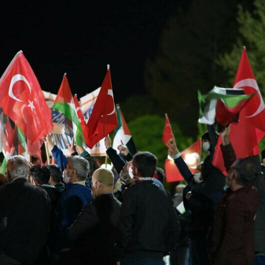 Israeli attacks on Al-Aqsa Mosque protested in Istanbul