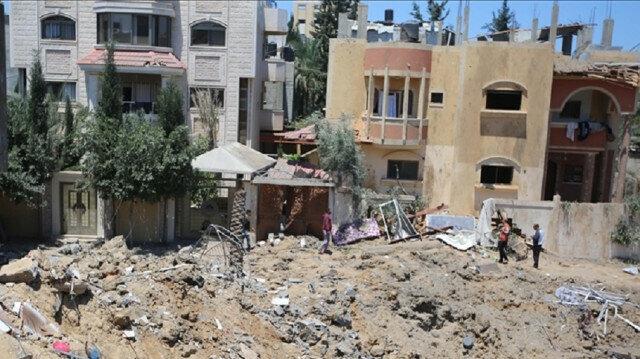 Israeli jets destroy house in Gaza