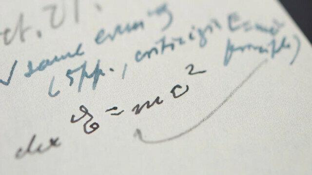 Albert Einstein's hand written E=mc2 equation sold for $1.2M