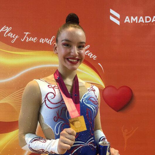 Turkish gymnast Onbasi wins gold medal at world championships