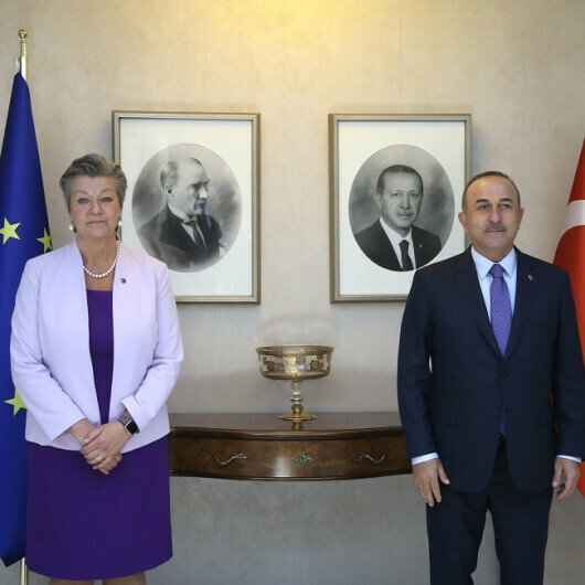 Turkish foreign minister meets EU commissioner for home affairs