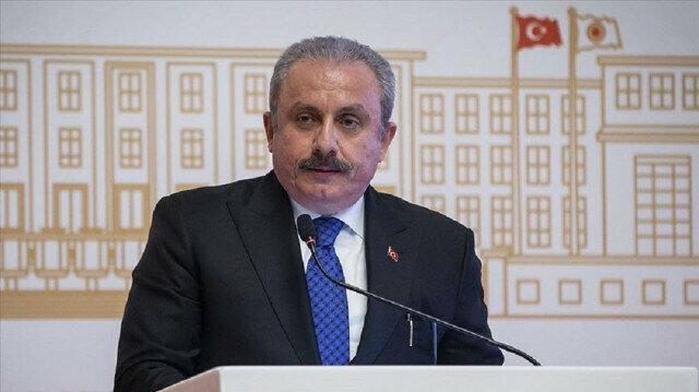 Turkish parliament speaker Mustafa Sentop