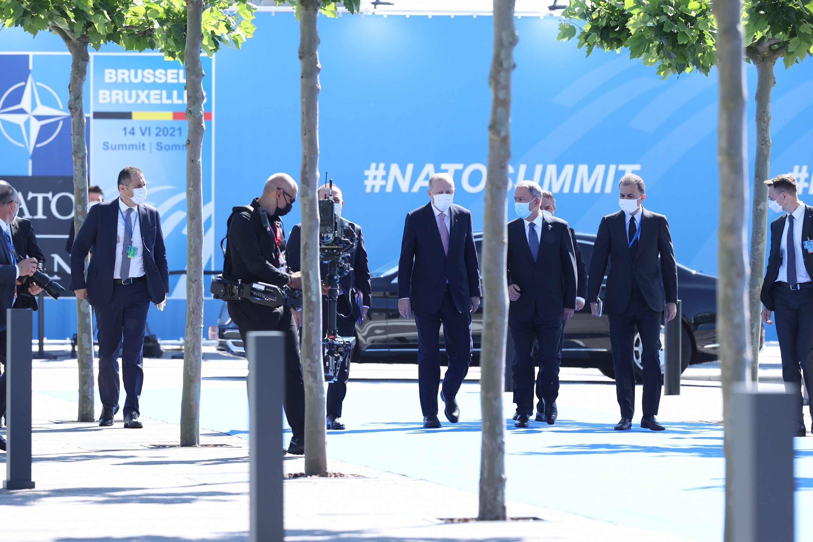 Erdoğan arrives at NATO HQ in Brussels to attend leaders' summit