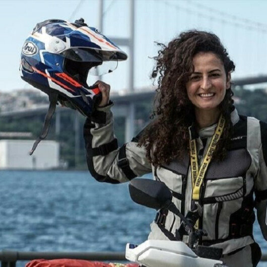 Turkish academic hits road on her motorcycle to explore Africa