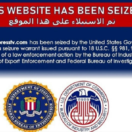 Websites of Iran's state-run international broadcasters 'seized'