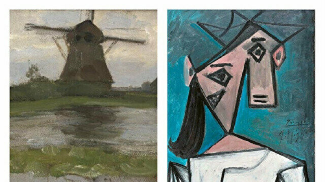 """The Spanish master's """"Head of a Woman"""" and Mondrian's """"Stammer Windmill"""""""