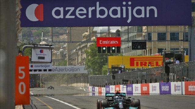 Nicholas Latifi of Williams drives at practice session ahead of the F1 Grand Prix of Azerbaijan at Baku City Circuit in Baku, Azerbaijan on June 04, 2021. Photo: Resul Rehimov - Anadolu Agency